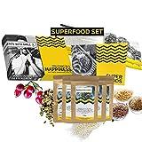 5x50 g de superalimentos puros en un conjunto de degustación I Conjunto de alimentos superalimentos Alimentos súper en polvo para probar suplementos alimenticios veganos