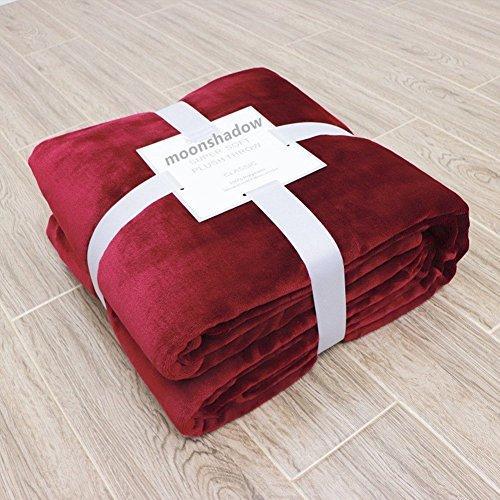 Minions Boutique - Manta de forro polar coral para sofá, cálida y ligera, para decoración del hogar, granate, 150*200cm