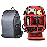 PONYRC Storage Backpack for DJI FPV Combo Drone and Accessories, Multifunctional Carrying Case Bag Compatible with DJI Air 2S, Mavic Mini 2, Mavic 2 Pro and All Kinds of Cameras, SLRs, Laptops