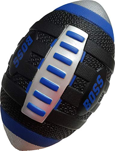 """LMC Products BOSS Foam Football -Our Mini Football is a Soft Football for Kids -Each Quality Kids Football is 9"""" – Jr Small Football (Blue)"""