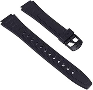 Casio 10268612 - Correa para reloj, resina, color negro