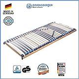 RAVENSBERGER MEDI XXL 5-Zonen-30-Leisten-BUCHE- Schwergewichtsrahmen | Starr | Made IN Germany - 10 Jahre GARANTIE | TÜV/GS + Blauer Engel - Zertifiziert | 90 x 200 cm
