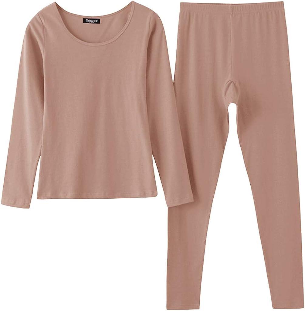 Bonarty Womens Stretchy Top Pants Thermal Leggings Long Johns Underwear Pajamas Set
