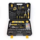 Small Household Mechanic Tool Set - 108 Piece Tool Box Set, Craftsman Basic Tool Kit, Car Tool Set, Mechanic Hand Tool Kit, Tool Kit for Home