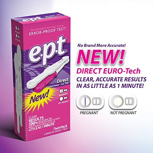 EPT Home Pregnancy Test Direct Flow HCG with European Technology, 0.100 Ounce