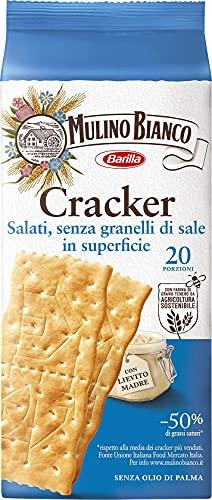 Mulino Bianco Cracker Senza Granelli di Sale in Superficie, Senza Olio di Palma, 20 Porzioni, 500 g