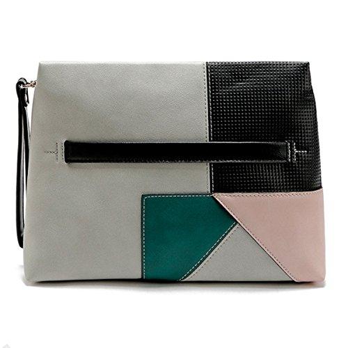 Élégant étanche Mignon Mini Sacs à Main Simple Couture Sac Portable Cosmétique Gris,Grey-32*23cm