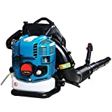 ZYL-YL Backpack Snow Blower Four-Stroke 1.9L Leaf Blower Snow Thrower Gasoline Engine Blower Wind Extinguisher with Air Volume 1.41m3/s Wind Speed 87m/s for Blowing Snow Leaf Forest Fire Fighting