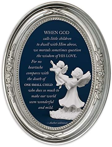 Cottage Garden When God Calls Little Children Brushed Silver Floral 5 x 7 Oval Table and Wall product image