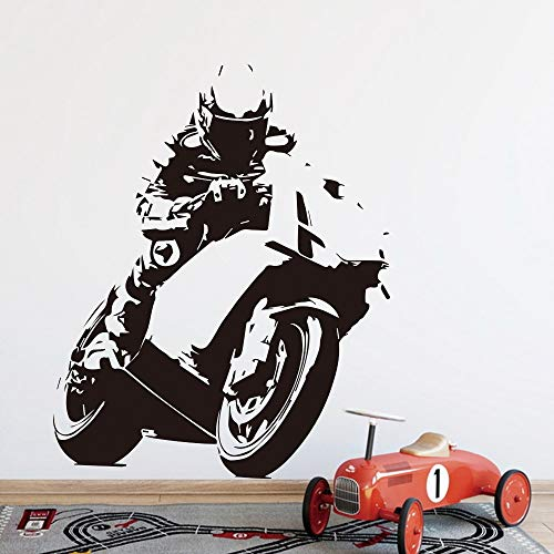 WERWN Extreme Challenge Motocicleta Pared Niños Habitación Decoración Vinilo Mural