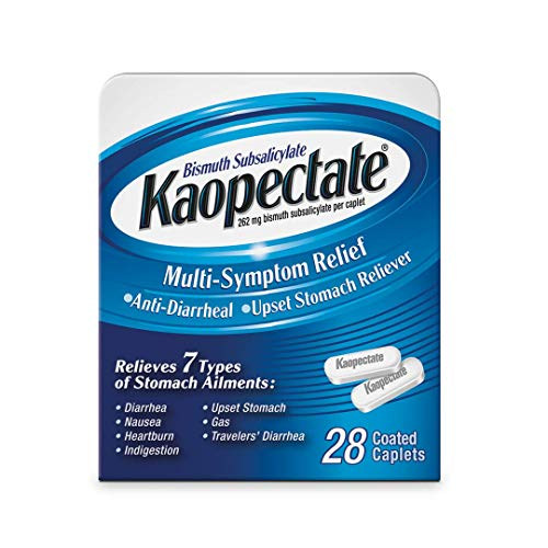 Kaopectate Multi-Symptom Anti-Diarrheal& Upset Stomach Reliever, 28 Caplets