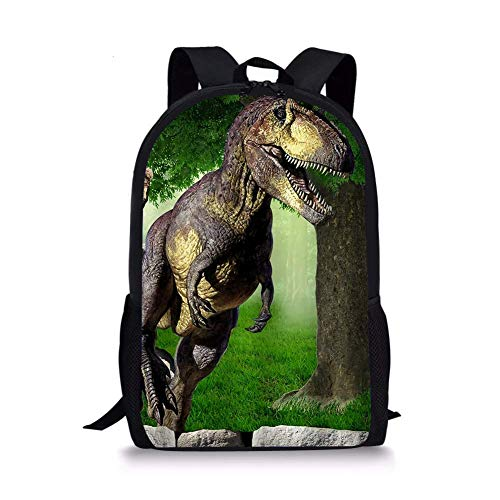 Cool T-rex - Mochila para niños con diseño de dinosaurio, color verde