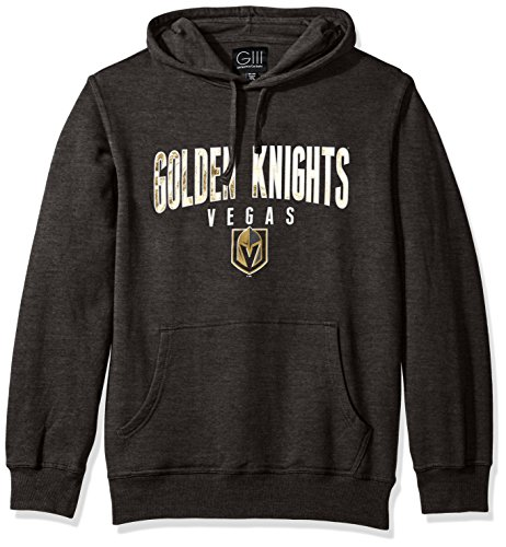 G-III Sports NHL Vegas Golden Knights Men's The Rookie Pullover Fleece Hoodie, X-Large, Charcoal