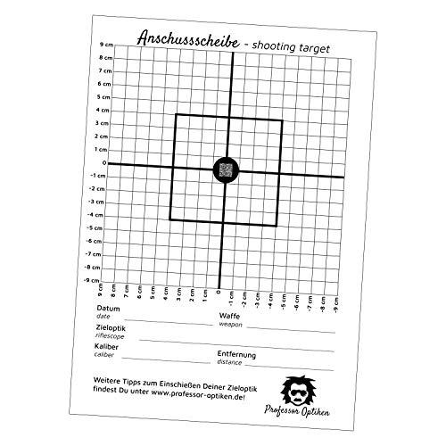 Professor Optiken 2er-Set Anschussscheibe/Zielscheibe für Nachtsichtgeräte - 2X 10er-Pack zum Einschießen & Kontrollschießen/zum Überprüfung der Treffpunktlage von Nachtsichtvorsatzgeräte - Jagd