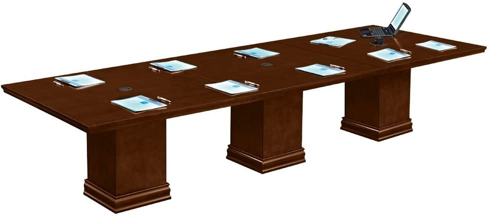 Modular 12 Ft Rectangular Conference Deep Purchase Walnut Table High quality Dimension