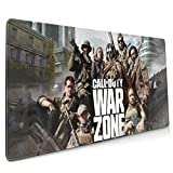 WKAOP Large Mouse Pad Call of Duty Warzone Non-Slip Mouse Pad-Portable Large Desk Pad for Laptop Computer Office and Home Accessories 15.8x35.5 in