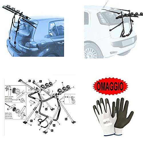 Compatible con Jeep Patriot (Rails) 5p (2007-></noscript>) Portabicicletas trasero para coche para...