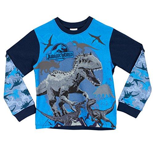 Jurassic World Dinosaurs - Set de Pijamas para niños, Multicolor, 134 cm (tamaño del fabricante: 8-9 años)
