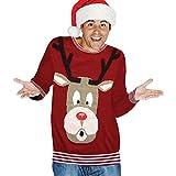 Rudolph leuchtende Nase Weihnachtspullover