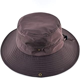Men Bucket Hat Wide Brim Anti-UV Sun Hats Breathable Mesh Beach Hat