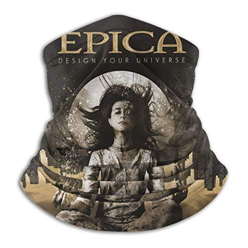NA Epica - Calentador de cuello de invierno unisex térmico de forro polar, resistente al viento, máscara facial para clima frío