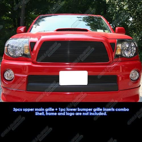 APS Compatible with 2012-2015 Tacoma Billet Grille Grill Insert Combo T81191A