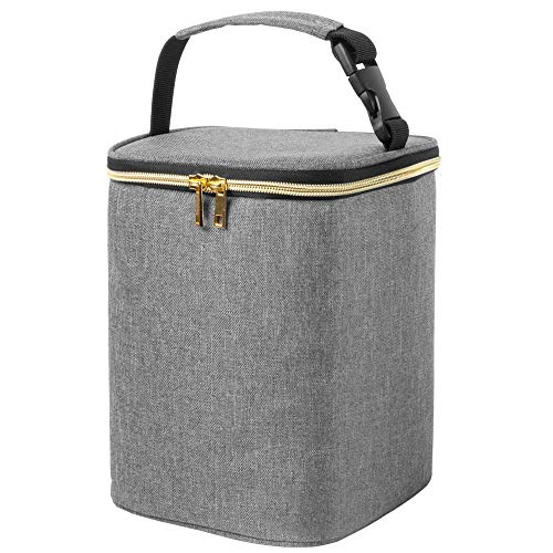 Teamoy Borse frigo per Biberon, borsa termica biberon per la Conservazione del Latte Materno, contiene fino a 4 biberon 270ml, Grigio(Senza Mattonelle Refrigeranti Includere)