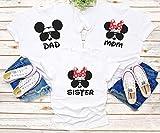 Camisetas personalizadas a juego de la familia de Disney, camisetas de Disney de vacaciones familiares, camiseta personalizada de Mickey Minnie mouse, camisetas personalizadas de Disney para FamilyD2
