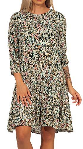VERO MODA Damen Kleid VMLiviana 10244357 brich AOP liviana L