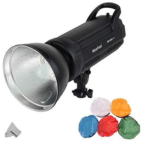 Fomito Nicefoto TB-600C 600W Luz de Flash de Estudio Compacto Luz estroboscópica Cabeza de lámpara Tiempo de Reciclado rápido 0.1-1.2s Pantalla LED para fotografía de Estudio