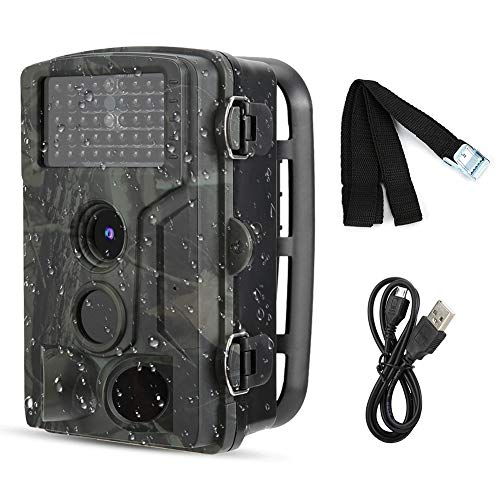 CHICIRIS wasserdichte Außenkamera, ultrakleines Volumen 1080P Hohe Bildqualität 120 ° Camera Trail Camcorder, für die automatische Fotografie der Felderkennung im Freien