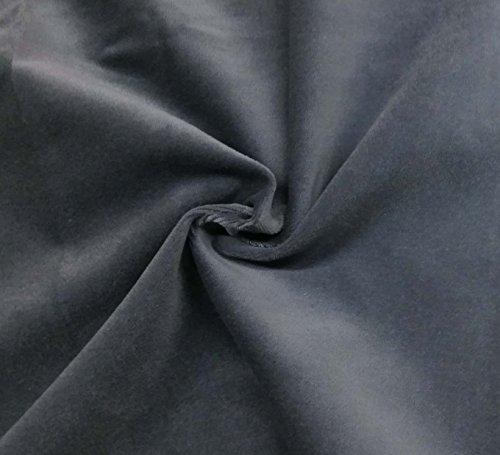 Quality Grey 100% Cotton Velvet Velour Fabric for...