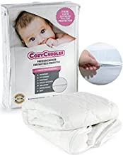 COZYCUDDLES Premium Zippered Quilted Waterproof Crib Protector Cover - All 6-Sides Waterproof Bedbugs Proof Fully Encasement - Bedbug Proof Pillow Case - Standard Baby Crib Toddler Bedding (52