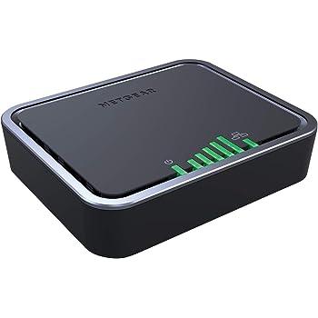 NETGEAR 4G LTE Modem (2x ports Ethernet Gigabit pour le basculement, compatible avec toutes les cartes SIM européennes, LB2120-100PES)