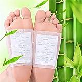 Parches para desintoxicación para pies, 100 unidades de almohadillas naturales de toxinas rganicas para eliminar impurezas, aliviar el estrés, mejorar el sueño, mejorar la circulación sanguínea