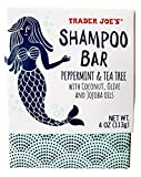 Trader Joe's Shampoo Bar Peppermint & Tea Tree with Coconut, Olive, and Jojoba Oils, 4 oz Bar
