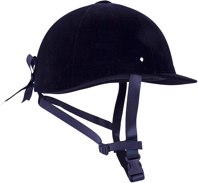 Baoblaze Breathable Velvet Horse Riding Helmet Equestrian Safety Head Predector