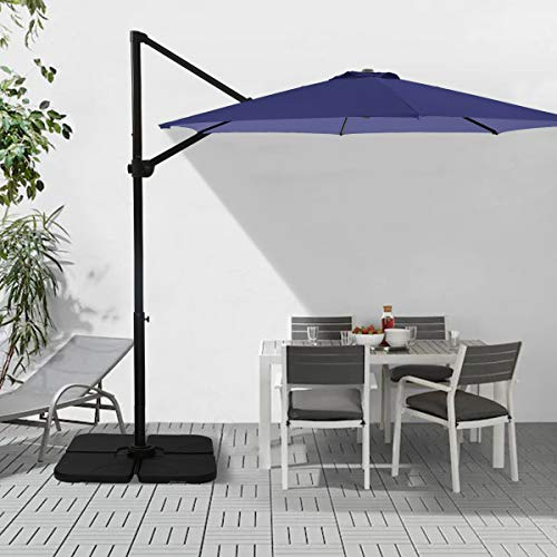 Ginelite 10Ft Luxury Cantilever Umbrella Patio Umbrella SDP Fading...