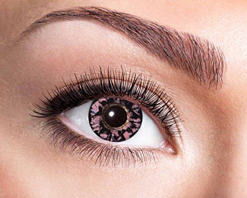 Natürliche, farbige Kontaktlinse lachs-beige, Jahreslinse, 14,5 mm ohne Dioptrin