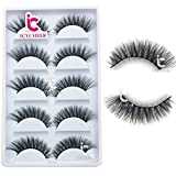 ICYCHEER 100% Mink Fur 3D False Eyelash Luxurious Natural Messy Daily Fake Eye Lashes Makeup Eyelashes 5 Pairs/Box …