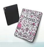 Funda para iPad 9,7 Pulgadas, 2018/2017 Modelo, 6ª / 5ª generación,Cuento De Hadas Princesa Tiara Corona Cuaderno Doodle Sketch Ilustración Smart Leather Stand Cover with Auto Wake/Sleep