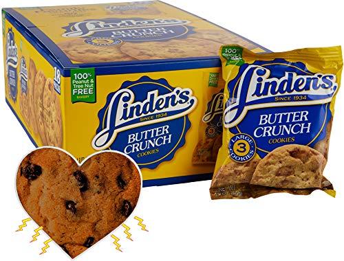 butter snack cookies Linden's Butter Crunch Cookies- 3 Cookies Per Pack- 18 Packs - With Exclusive InPrimeTime Cookie Heart Magnet