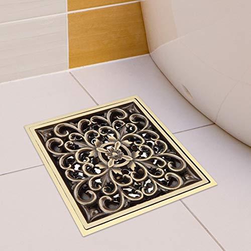 Colador de drenaje de residuos Super capacidad de drenaje Cubierta de rejilla de ducha Desagüe de ducha de(Antique vine flower)