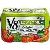 V8 Low Sodium 100% Vegetable Juice, Original, 276 Fl Oz, 24 Count, Pack of 4