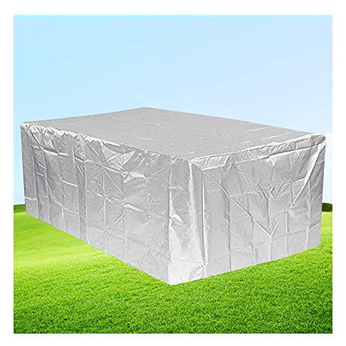 LITINGFC-Garden Furniture Cover,Heavy Duty Outdoor Rattan Patio Furniture Covers,Waterproof Moisture-proof Sofa Covers Easy To Clean (Color : Silver, Size : 90x90x90cm)