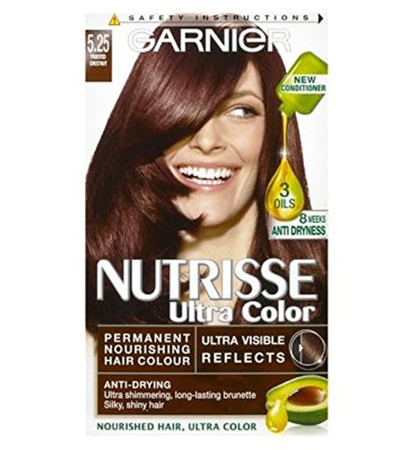 メアリアンジョーンズシネウィ記者Nutrisse Ultra Permanent Hair Colour 5.25 Chestnut - Nutrisse超パーマネントヘアカラー5.25栗 (Garnier) [並行輸入品]