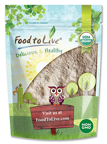 Organic Barley Flour, 2 Pounds - Stone Ground from Whole Hulled Barley, Non-GMO, Raw, Vegan, Bulk, Great for Baking, Product of the USA