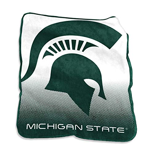 Logo Brands NCAA Michigan State Spartans Raschel Throw, One Size, Team Color