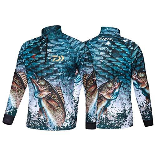 SNV Kleidung, Angelshirt, Jacke, Eisseide, schnelltrocknend, Sportkleidung, Sonnenschutz, UV-Schutz, atmungsaktiv, mit Kapuze Gr. XXXX-Large, 32