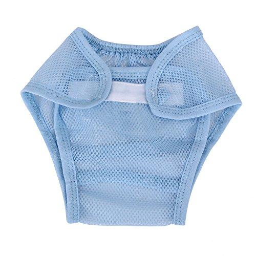 Domybest Baby Jongen Meisje Zomer Mesh Luier Ademend Leren Broek Wasbaar Herbruikbare Luier 90 Blauw
